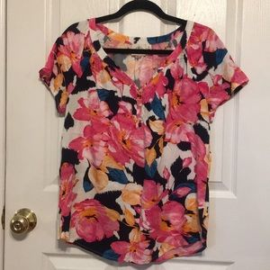 3 for $20 ST. JOHNS BAY FLORAL BLOUSE